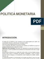 Economia Politica Monetaria