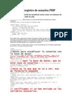 Sistema de Registro de Usuarios Php