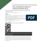 Polémica en Cali -ANTENAS DE TELEFONIA MOVIL