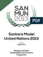 UNEP Background Guide - SanMUN 2013