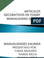 Articulos Decorativos en Foamy