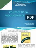 CONTROL DE LA PRODUCCIÓN DE AGUA