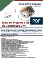 Informativo Gestão de Projetos e Obras da Construção Civíl