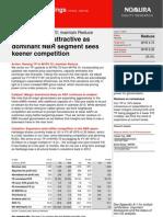 Nomura Hartalega Valuations Unattractive Due to Keener Competition June 2013