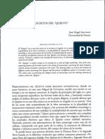 Autorías y manuscritos del Quijote en el Quijote