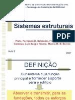 Aula ESTRUTURAS-Sistemas Estruturais-PARTE 1