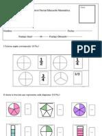 Control Matemática fracciones