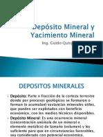Presentacion Nº 7 y 8 Depósito Mineral y Yacimiento Mineral.pptx