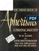 [W. H. Auden, Louis Kronenberger] Viking Book of Aphorisms