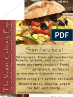 Vegan Culinary Experience (Sandwich Edition)