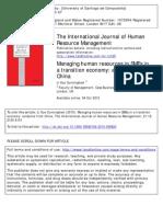 ART Gestion de Recurso Humanos en Una Economia de Recision