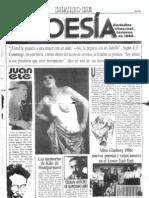 Diario de Poesía N° 1, invierno de 1986