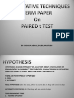 Presentation1 - PAIRED t TEST