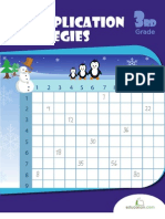 Winter Multiplication Strategies Workbook