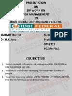 Sip Presentation in idbi federal
