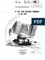 Combat Studies, Employment of TD Battalions in the ETO