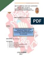 Fallas, Fatiga, Ahullamiento, Analisis Pavimentacion San Sebastian