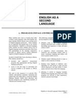 English as a Second Language Program of Studies