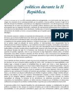 Partidos políticos durante la II República nacionalistas y republicanos