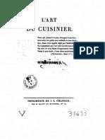 L'Art Du Cuisinier Par Antoine Beauvilliers, 1814 - Volume 1