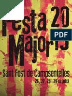 Programa de la Festa Major de Sant Fost 2013