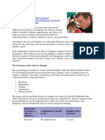 Affective Domain Example Objectives