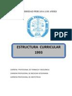 Estructura Curricular 1994