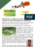 Cabeleireiro é suspeito de matar filha e ocultar cadáver no sítio Caracolzinho em Queimadas