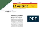 LIMEÑOS A FAVOR DE PRESERVAR HUACAS