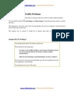 Task 2 Sample Essay Traffic Problems