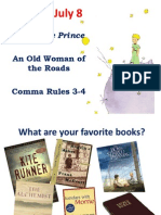 July 8 the Little Prince Intro an Old Woman of the Roads Comma 3 and 4