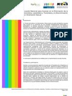 Acuerdo Nacional para Avanzar en  la Eliminación de  la Homofobia, Lesbofobia y Transfobia y la Discriminación por Orientación Sexual - 2009
