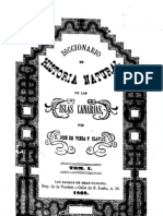 Diccionario de Historia Natural de Las Islas Canarias o Ndice Alfebtico Descriptivo de Sus Tres Reinos Animal Vegetal y Mineral