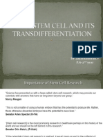 Adult Stem Cell and Its Transdifferentiation