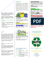 Folleto reciclaje 2013