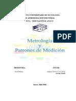 Metrologia y Patrones de Medicion