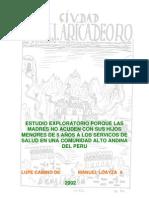 Por Que Las Madres No Acuden a ES Huancavelica
