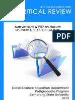 Critical Review Buku Masyarakat & Pilihan Hukum