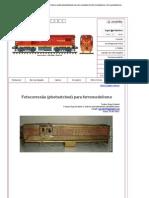 Fotocorrosão para ferromodelismo