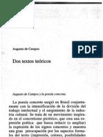 Augusto de Campos - Dos textos poéticos