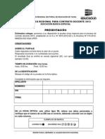 Prueba Contrato Docente 2013 Tacna EBE