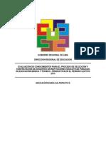 Prueba Contrato Docente 2013 Lima Provincias EBA