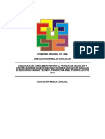 Prueba Contrato Docente 2013 Lima Provincias EBE