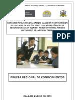 Prueba Contrato Docente 2013 Callao