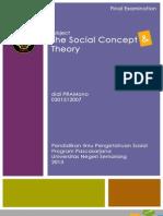 UAS Mata Kuliah Konsep & Teori Sosial