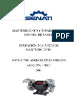 INFORME DE MANTENIMIENTO Y REPARACIÓN  DE ESMERIL DE BANCO
