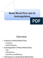 Renal Blood Flow and Its Autoregulation (Seminar)