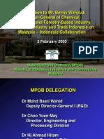 MPOB Delegation Indonesia