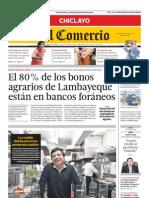 ECCH-20072013 - El Comercio Chiclayo - Portada - Pag 1