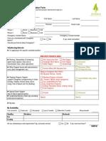 2013 Evergreen Volunteer Application